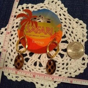 💮4 for $10💮 Safari Earrings with Cheat print